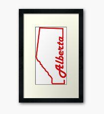 Alberta Province Map Design Framed Print