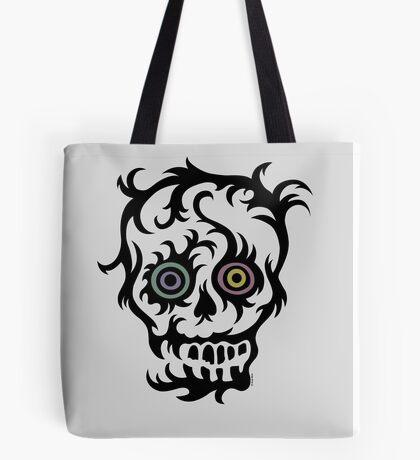 Skull Tattoo - on lights Tote Bag