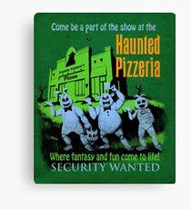 The Haunted Pizzeria Canvas Print