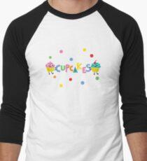 I love cupcakes banner Men's Baseball ¾ T-Shirt