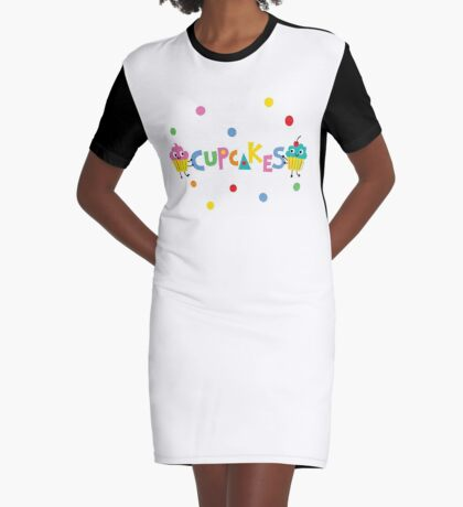 I love cupcakes banner Graphic T-Shirt Dress
