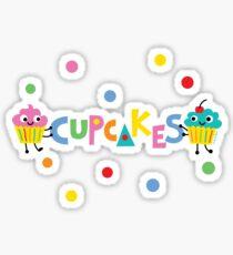I love cupcakes banner Sticker