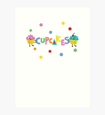 I love cupcakes banner Art Print