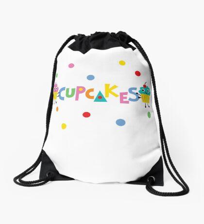 I love cupcakes banner Drawstring Bag