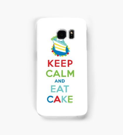 Keep Calm and Eat Cake - on white Samsung Galaxy Case/Skin