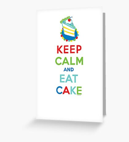 Keep Calm and Eat Cake - on white Greeting Card