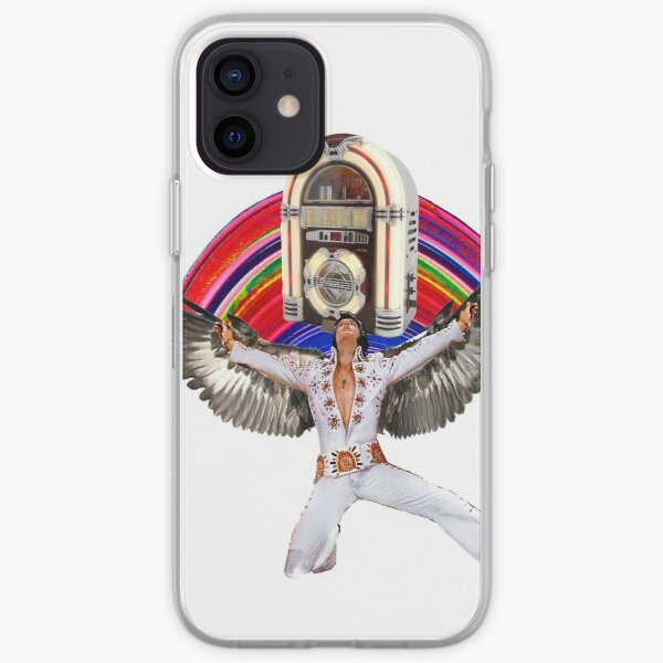Elvis Brings Forth the Jukebox from the Rainbow in His Magnificent Wings iPhone Soft Case
