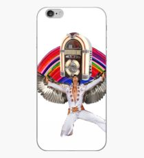 Elvis Brings Forth the Jukebox from the Rainbow in His Magnificent Wings iPhone Case