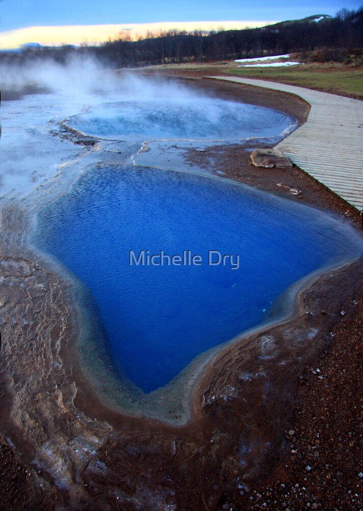 Blue pools by Michelle Dry