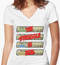 Pokemon: The Struggle Is Real Women's Fitted V-Neck T-Shirt