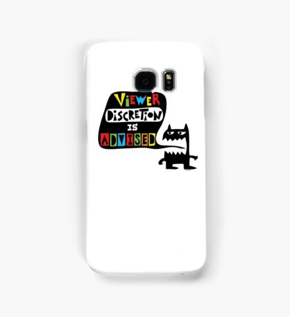 Viewer Discretion is Advised - multi colored Samsung Galaxy Case/Skin