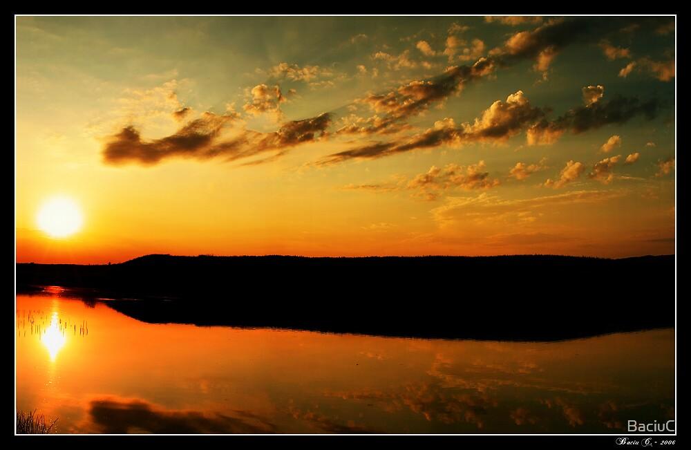 Sunset Lake  by BaciuC