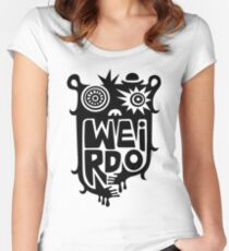 Big weirdo - on light colors Women's Fitted Scoop T-Shirt