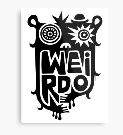 Big weirdo - on light colors Metal Print