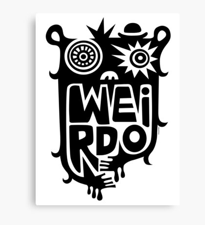 Big weirdo - on light colors Canvas Print
