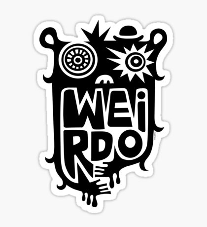 Big weirdo - on light colors Sticker