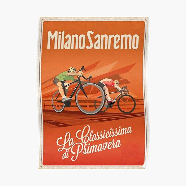 Retro Milan San Remo vélo art Poster