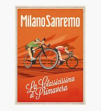 Retro Milan San Remo cycling art Photographic Print