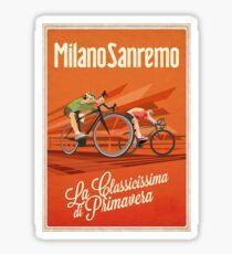 Retro Milan San Remo cycling art Sticker