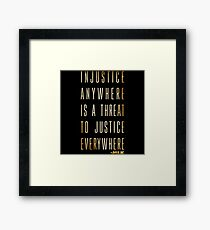 Martin Luther King Jr. Typography Quotes Framed Print