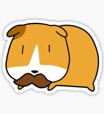 Mustache Guinea Pig Sticker