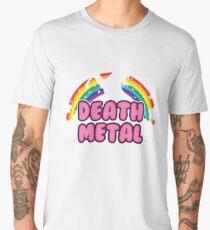death metal silhouette parody unicorn rainbow Men's Premium T-Shirt
