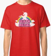 death metal silhouette parody unicorn rainbow Classic T-Shirt