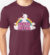 death metal silhouette parody unicorn rainbow Unisex T-Shirt
