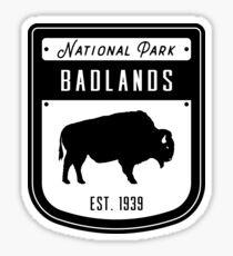Badlands National Park South Dakota Badge Sticker