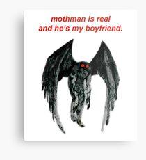Mothman ist real und er ist mein Freund. Metallbild