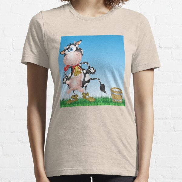 Happy Cow on a Bucket of Milk Essential T-Shirt