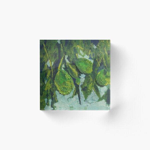 Avocado Jumble (Mixed Media) Acrylic Block