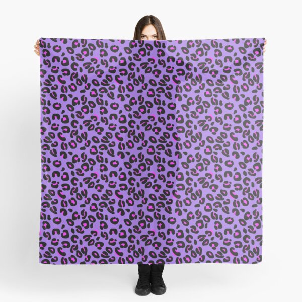 Bright Purple Leopard Spots Animal Print Pattern Scarf