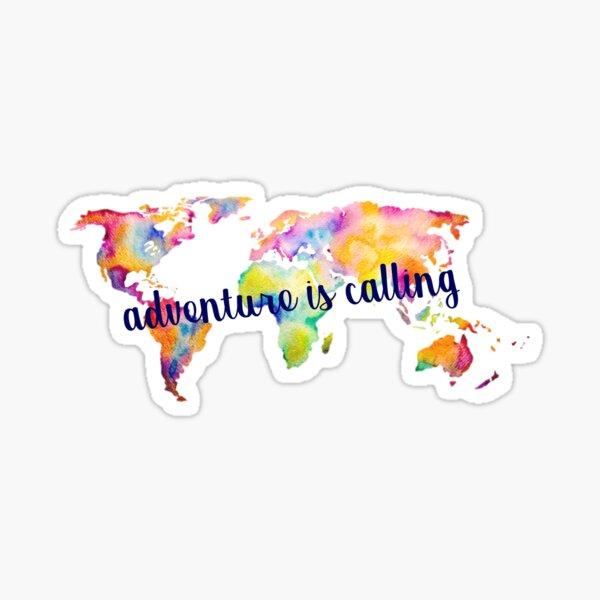 Adventure is Calling World Map Sticker