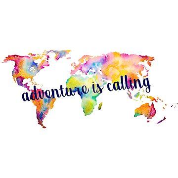 Adventure is Calling World Map by annmariestowe