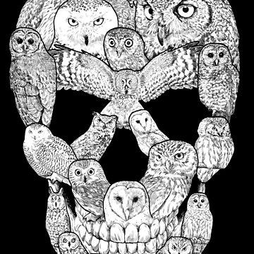 Búho lleno de cráneos de designbydinny