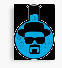 Breaking Bad Blue Flask Round Canvas Print