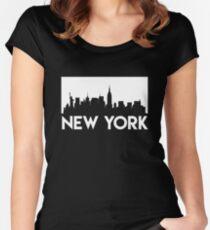 New York Skyline Women's Fitted Scoop T-Shirt
