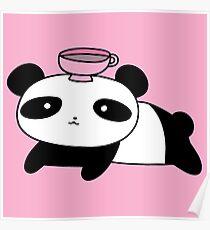 Póster Panda y té