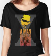 Malcolm X Typography Quotes Women's Relaxed Fit T-Shirt