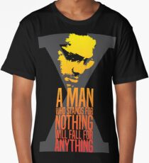 Malcolm X Typography Quotes Long T-Shirt