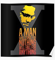 Malcolm X Typography Quotes Poster