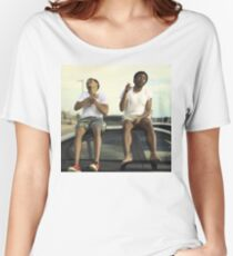 CHILDISH GAMBINO AND CHANCE THE RAPPER Women's Relaxed Fit T-Shirt
