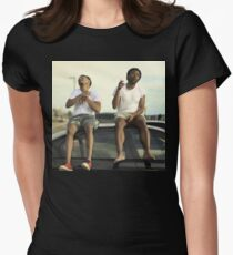 CHILDISH GAMBINO AND CHANCE THE RAPPER Womens Fitted T-Shirt