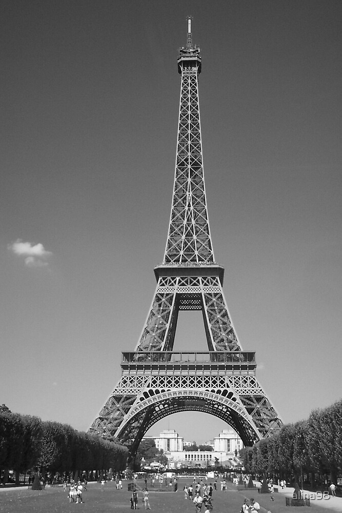 Eiffel Tower (black and white) by alina98