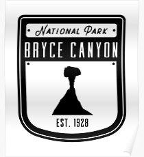 Bryce Canyon National Park Utah Badge II Poster