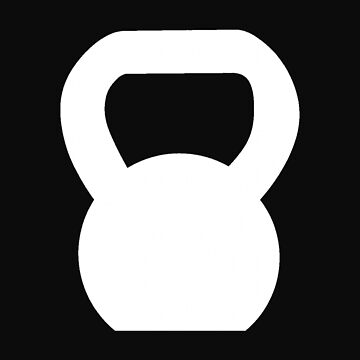 Kettlebell WOD White Large by ZSBakerStreet
