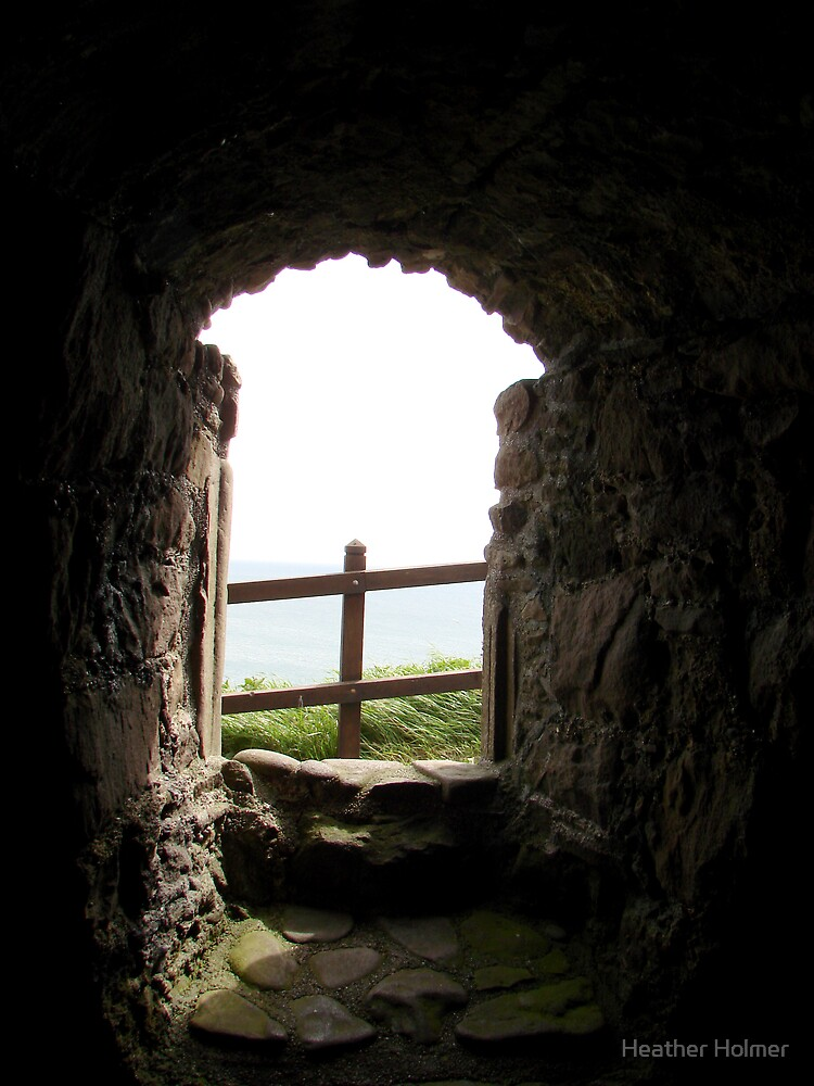 Window at Dunnottar by Heather Holmer
