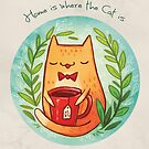 Home is where the cat is by michelledraws
