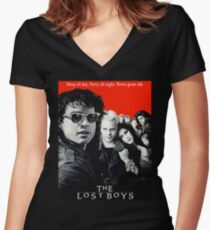 Lost Boys Women's Fitted V-Neck T-Shirt